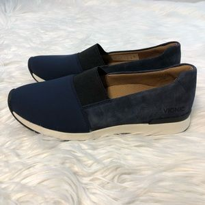 Navy Blue Vionic Cameo Slip On Casual Shoes